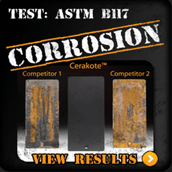 Corrosion examples of Cerakote Competitors